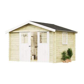 Alpholz Gartenhaus Evere aus Fichten-Holz