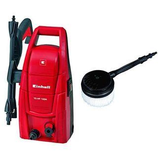 Einhell Hochdruckreiniger TC-HP 1334 (1300 W, max. 100 bar, 5,7 l/min, max. 40 °C, 3 m Schlauch, drehbare Pistole) + Einhell Hochdruckreiniger Zubehör HPRB 15 passend für Hochdruckreiniger