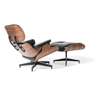 Platinum Charles Eames Ledersessel