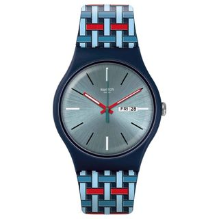 Swatch Herren Analog Quarz Uhr SUON710