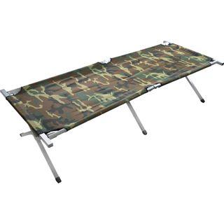 normani XXL Stabile Feldliege Campingbett Feldbett Farbe Camouflage