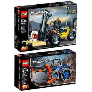 Lego Technik 2er Set 42079 42071 Schwerlast-Gabelstapler