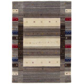 CarpetFine: Gabbeh Sadri Teppich 160x230 cm Grau