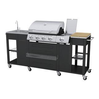 vidaXL 40426 Barbecue Gas-Grill 2900W Schwarz