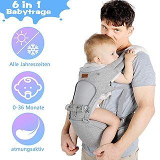 BAMNY Baby Hüftsitz Babytrage,Reine Baumwolle,atmungsaktiv für 0-36 Monate Neug