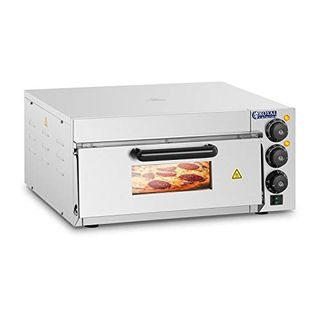 Royal Catering RCPO-2000-1PE Pizzaofen 2.000 W 1 Kammer Schamotte Schamotteboden
