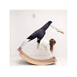 DHShop Balance Board aus Holz Kinder Massivholz Curved Swing Schaukelbrett