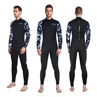 LayaTone Tauchanzug Herren Ganzkörper 3mm Neoprenanzug Surfanzug