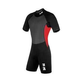 PI-PE Herren Neoprenanzug Pro II Spring Short Sleeve Red