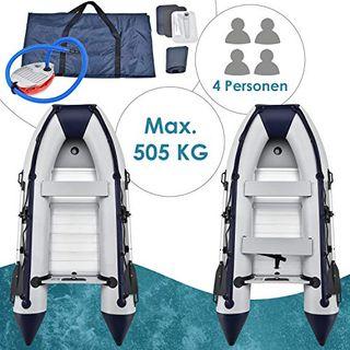 ArtSport Schlauchboot grau mit 2 Sitzbänken und Aluboden