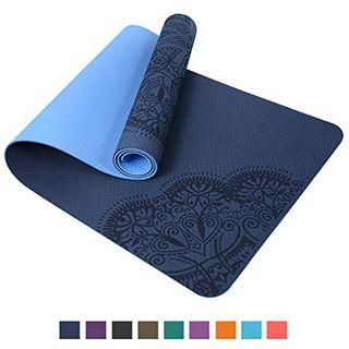 TOPLUS Pilatesmatte Gymnastikmatte Yogamatte rutschfest aus TPE