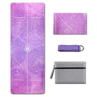 Yogamatte- Faltbare 1/16 Zoll dünne Gymnastikmatte