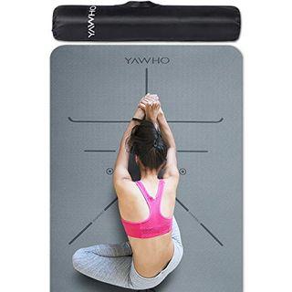 YAWHO Yogamatte hochwertige TPE ist rutschfest ECO Freundlichen Material