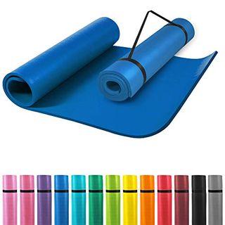 GORILLA SPORTS Yogamatte mit Tragegurt 190 x 60 x 1,5 cm rutschfest u. phthalatfrei