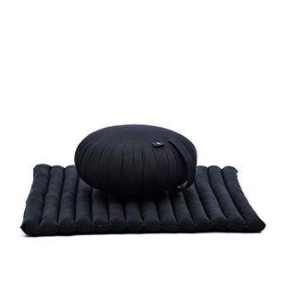 Leewadee Meditationsset Yogaset aus Meditationskissen Zafu und Sitzmatte