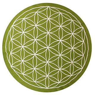 maylow Yoga mit Herz Yogakissen Meditationskissen mit Stickerei Blume des Lebens