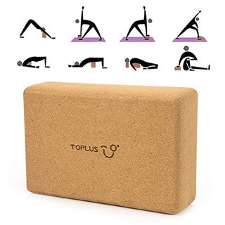 TOPLUS Yoga Block für Anfänger und Fortgeschrittene aus 100% Naturkork,Korkblock
