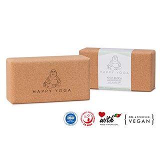 Happy Yoga 2er Set Yogablock 100% Veganer Naturkork