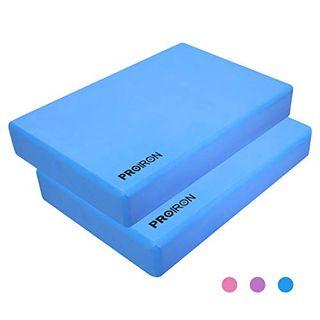 PROIRON Yoga Blöcke Eva Yoga Block 2er Set Fitness Yogablock 2 Stück Umweltfreundlich