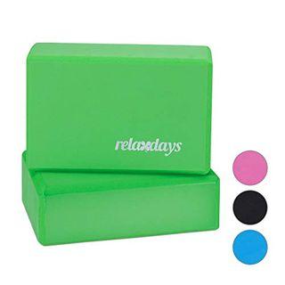 Relaxdays Unisex Erwachsene Klö Yogablock im 2er Set