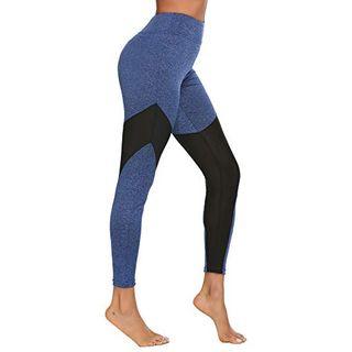 ADOME Damen Yoga Hose Leggings Fitness Sporthose Freizeithose