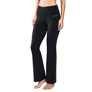 Ogeenier Damen Baumwolle Bootcut Yogahose Flare Nylon Jogginghose