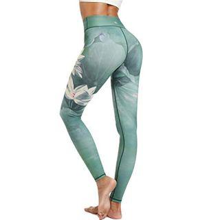HAPYWER Damen Sport Leggings Lang Gym Trainings Jogging Hohe Taille