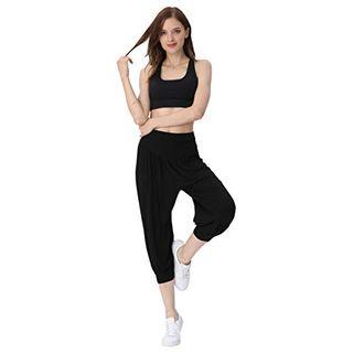 Hoerev Frauen-Super Soft Modal Spandex Harem Yoga Pilates