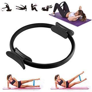 VANUODA Pilates Ring Doppelgriff Yoga Circle Exercise Ringe 15 Zoll
