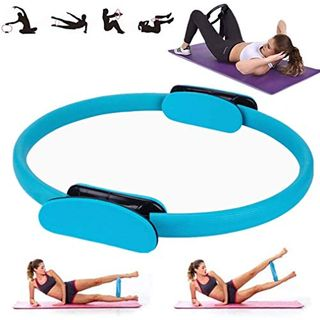 YSMOTO Pilates Circle Pilates Ring Toning Pilates Ring Dual Soft Grip Fitness
