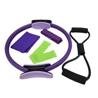 BKAUK Pilates-Ring mit Widerstandsgürtel