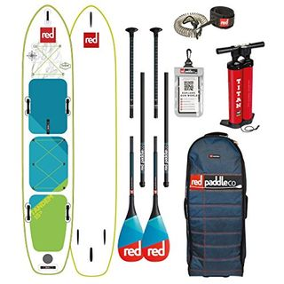 Red Paddle Co 2018 Voyager Tandem 15'0 Inflatable Stand Up Paddle Board +Bag