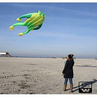 Wolkenstürmer Einleiner Flugdrachen Fritz the Frog XL Grün Drachen