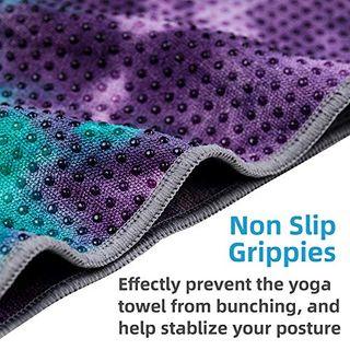 Adorence Yoga Handtuch Rutschfest Noppen Im Yoga Handtuch Vergleich 2021