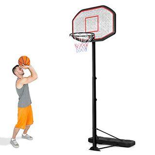 COSTWAY Basketballständer von 200 bis 305cm höhenverstellbar