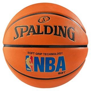Spalding Unisex-Adult Ball NBA Logoman Sponge Basketball