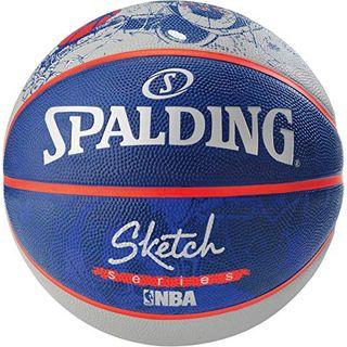 NBA Sketch Robot Spalding Basketball Ball