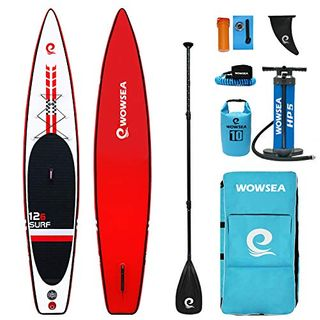 WOWSEA Racer Aufblasbares Stand Up Paddle Board