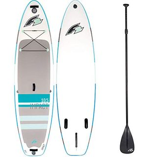 F2 Inflatable Impact Stand Up Paddle Board Set Blue
