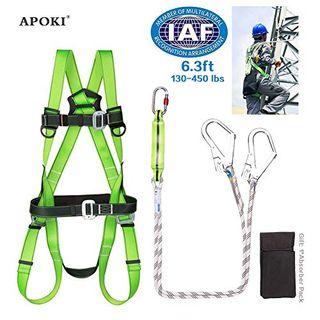 APOKI Fallschutz Auffanggurt Absturzsicherung Gurt Safety