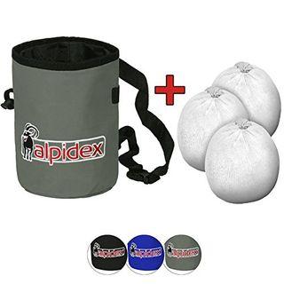 ALPIDEX Chalkbag inklusive 3 x Chalk Ball 35 g Kletterkreide Bouldern Klettern