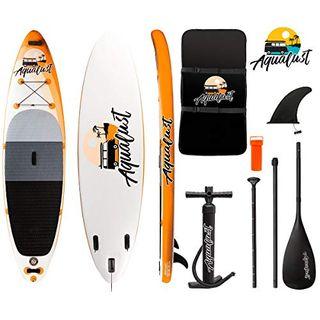 "AQUALUST 10'6"" SUP Board Stand Up Paddle Surf-Board aufblasbar Paddel"