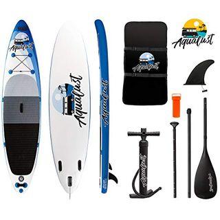 "AQUALUST 12'0"" SUP Board Stand Up Paddle Surf-Board aufblasbar Paddel"