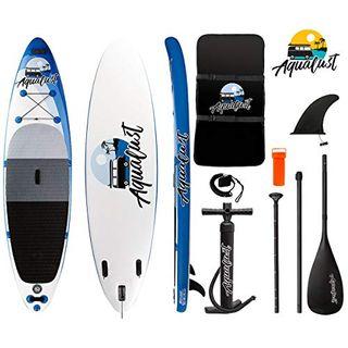 "AQUALUST 10'0"" SUP Board Stand Up Paddle Surf-Board aufblasbar Paddel"