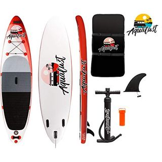 "AQUALUST 10'6"" SUP Board Stand Up Paddle Surf-Board aufblasbar Isup"
