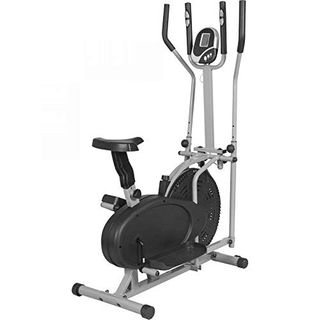 GORILLA SPORTS Crosstrainer mit Trainingscomputer Grau