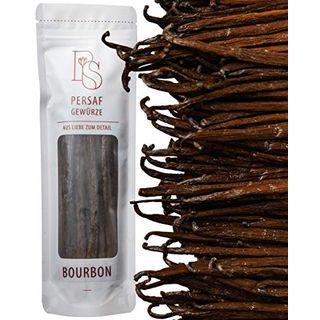 PerSaf Bourbon Vanilleschoten 15 bis 18 cm in Premium-Qualität 10 Stück