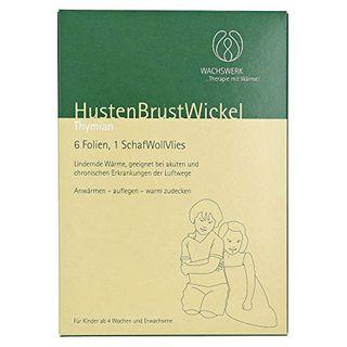 HUSTEN Brust Wickel Thymian Wachswerk 6 St
