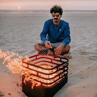 höfats Cube Feuerkorb als Feuerstelle