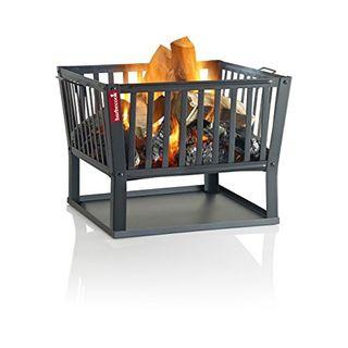 Barbecook Feuerkorb für Holzfeuer eckig lackierter Stahl lang 62-cm breit und 48.5